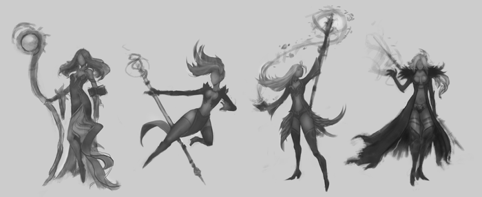 Mage Character Design Refining pt.2 by KenryChu