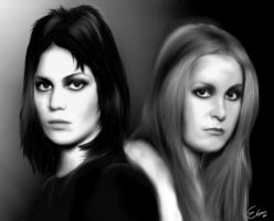 joan jett and lita ford by Drawke