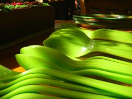 Green spoons by The-Lighted-Soul
