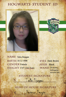 Hogwarts ID Card- Slytherin by latuacantante98