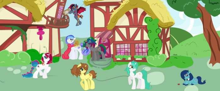 Walk through Downtown Ponyville by kittythecookie