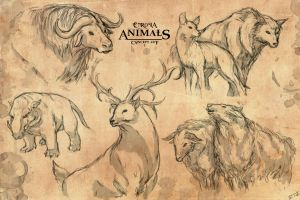 Enrosia Animals: Concept Art 1 by Mytherea