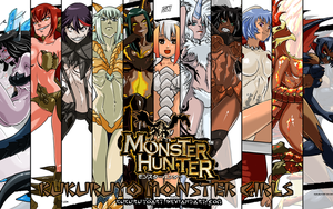 Monster hunter Monster girls Wallpaper by KukuruyoArt