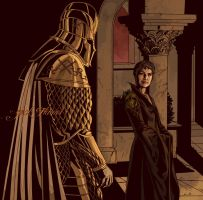 CERSEI and THE MOUNTAIN by aquiles-soir