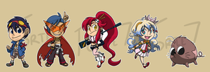 Stickers: Gurren Lagann by forte-girl7