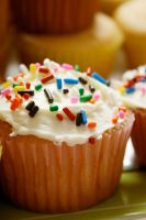 cupcake with sprinkles by iOWNthis