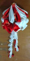 Red and white Kanzashi by Highwaystarr