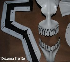 Leather Bleach Hollow Mask WIP by Epic-Leather