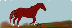 Untitled Horse: Colored by siannajmj