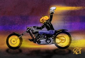 Halloween Ghost Rider by photon-nmo