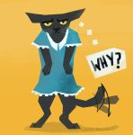 Draw Your Cat In A Dress Day by LauraBev
