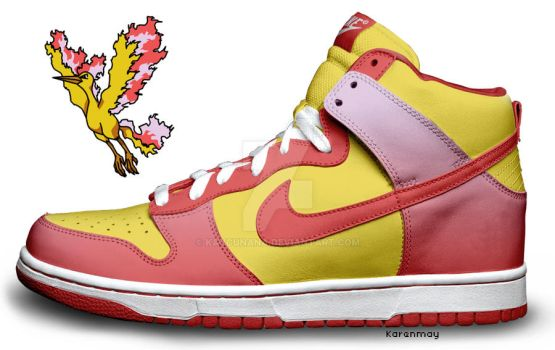 Custom Nike Dunks: Moltres by kaycunana