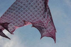 Purple Lace Shawl by NitkaAG