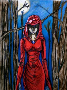 The Lady In Red by LunataRose