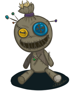 Voodoo doll doodle by TheBearTamer