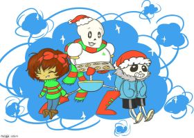 Undertale christmas by lalabell7