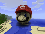 3D mario in Minecraft by chickenmobile