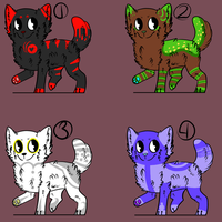.: Adoptables - Wolves/Dogs :. by kidrot