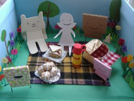 Picnic diorama by philippajudith