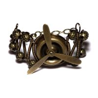 Airship Pirate Steampunk Cuff by CatherinetteRings