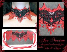 Ave Noctem choker by redLillith