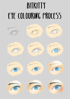 Eye Colouring Tutorial by BitKitty