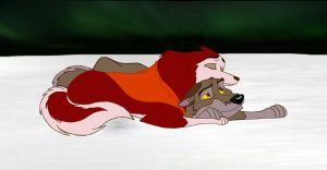 Balto and Jenna by rivermer