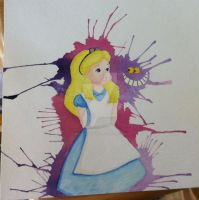 Alice in watercolor by Billygoatbaby