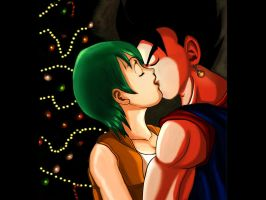 Bulma Xmas kiss DBZ by Vegetto by vegetto-vegito