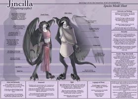 Jincilla - Species Model Sheet by Ulario