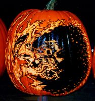 Bionicle Pumpkin by rjclrutter