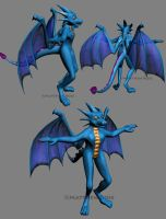 Blue Dragoness UPDATE by SpitFireDragon