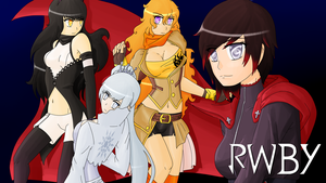 Team RWBY Wallpaper by TheBlackNeko