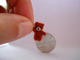 OOAK micro miniature jointed artists bear fox by tweebears