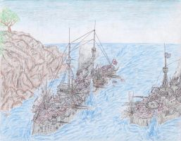 Naval Battle of Punta Picardi by Shabazik