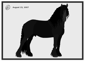 Friesian Stallion by SaraChristensen