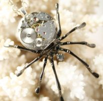 Steampunk Gothic Spider by byrdldy