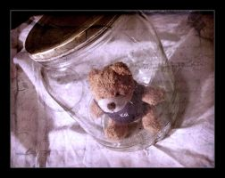 Teddy in a Jar by LittleFear