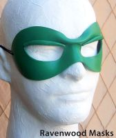 Green Bandit superhero mask by Alyssa-Ravenwood
