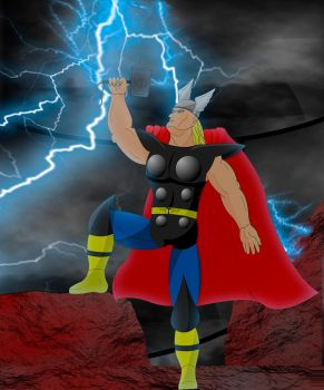 Thor, The God of Thunder and Lightning  - Fan Art by MaxPowerX5