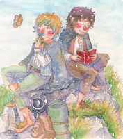 Frodo, Sam by merrinou
