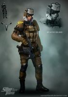Light Infantry Trooper by katmachiavelli