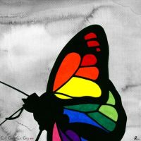 Colour my day, butterfly ... by AllCatsAreGreyART