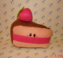 Cake slice plushie by Kittyportugal