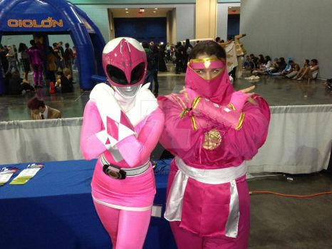 Double Pink Ranger power by DramaDollLover