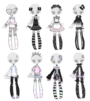 +Outfit Adoptable Mix 10 [ OPEN ] (1/8) + by Hunibi
