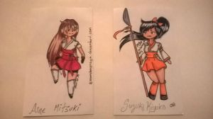Aine and Kiyoko index cards by SailorSun18