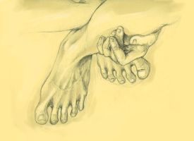 Spindly toes by nakedzombieforce