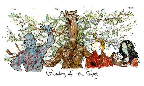 guardians of the galaxy by dugonism