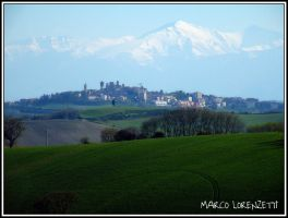 Filottrano (AN) - THE TOWN AND SIBILLINI MOUNTS by MarcoLorenzetti